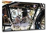 Fine-Art-Manufaktur NSU Oldtimer Motorrad Detail Motor Nostalgie Lounge Bilder Technik | Aus der Serie Oldtimer Motorräder | Farbe: schwarz | Rubrik: zweiraeder + technik