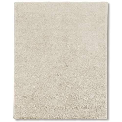 Tappeto Salotto Shaggy - Tappeto Pelo Lungo (3 cm) e Morbido, Tappeti Soggiorno, Sala, Interno Casa, in Diversi Colori e Misure - 70x130 cm - Avorio