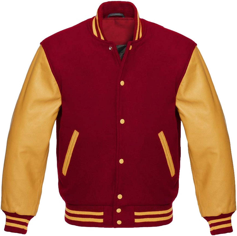 5 Star Letterman Baseball Sportswear Varsity Bomber Jacket