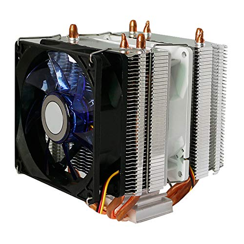 Monland Tower Radiator Three Fans 9CM Silent LED Luminous Cooling Fan Computer Double Tower Three Fans Heat Pipe CPU Radiator