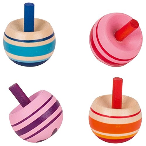Ameisenkeks ® Wendekreisel 4 x Stehauf-Kreisel Pastellfarbe aus Holz