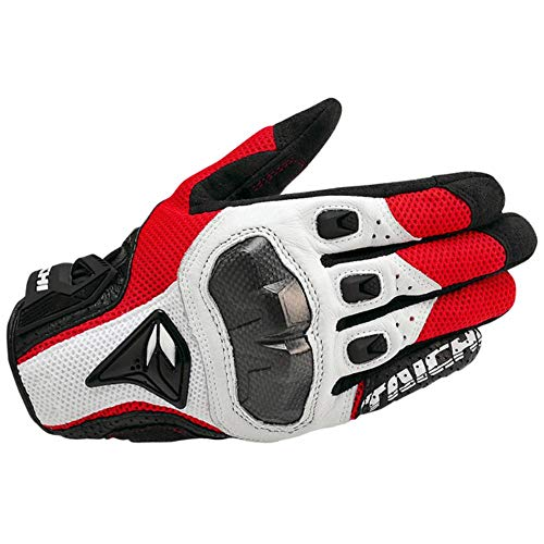 Finer Summer Breathable Motorcycle Gloves RST Gloves Guantes Moto luvas Motociclismo Motocross Gloves Guantes Moto Verano,Red,XL