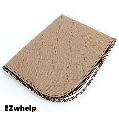 EZwhelp 34' x 36' Machine Washable, Reusable Pee Pad/Quilted, Fast Absorbing Dog Whelping Pad/Waterproof Puppy Training Pad/Housebreaking Absorption Pads