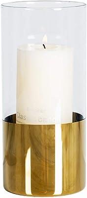 キャンドルホルダー,結婚式のキャンドルライトディナークリスマスレストランの装飾に使用されるガラスゴールド(サイズ:9×20cm)