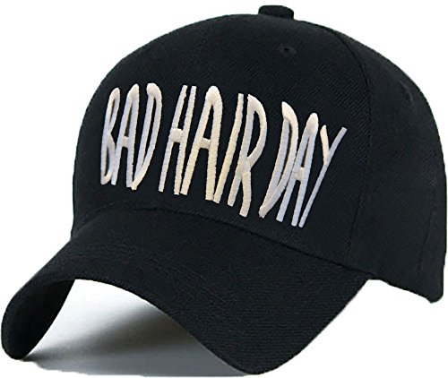 Bonnet Casquette Snapback Baseball ASAP 1994 Hip-Hop en Noir/Blanc avec les ASAP Bad Hair Day