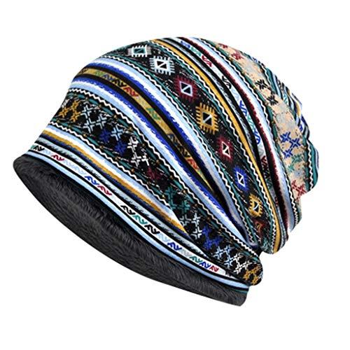 Auifor vrouwen Boho beanie-hoed buitenshuis winddoorlatend voor beide hoofd en nekwarmer sneeuwhoed