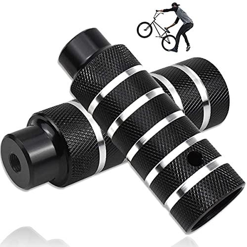 LORESJOY Picchetti Bike, 2Pezzi Pedale BMX in Lega di Alluminio, Pedane Bicicletta, Poggiapiedi da Bicicletta, Antiscivolo, Pedane Posteriori per BMX Stunt Pegs, Accessori per Ciclismo
