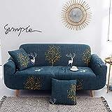 ASCV Funda de sofá de Esquina Funda de sofá Funda de sofá elástica para Sala de Estar Funda Universal para sofá Funda de sofá térmica Decoración del hogar A5 2 plazas