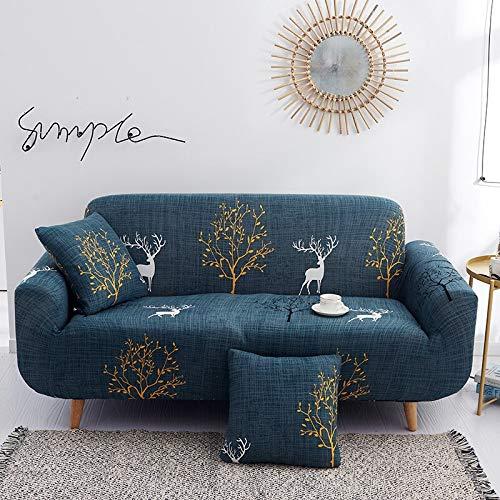 ASCV Funda de sofá de Esquina Funda de sofá Funda de sofá elástica para Sala de Estar Funda Universal para sofá Funda de sofá térmica Decoración del hogar A7 3 plazas