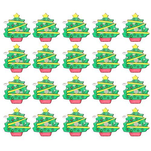 Amosfun Broches con luces led para árbol de Navidad.