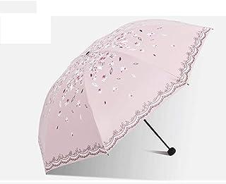 LPKH Umbrella Travel Umbrella Windproof Waterproof, Extra Strong Umbrella with Reinforced Windproof Frame, Portable Umbrella for Women and Men (Color : Beige)