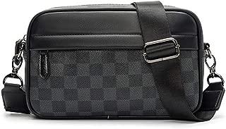 Classic Checkered Messenger Bag Premium PU Leather Plaids Crossbody Bag Fashion Street Work Day Convenient Casual Flap