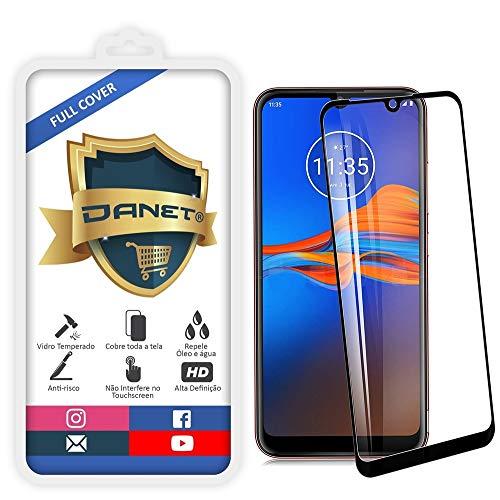 Película De Vidro Temperado 3D Full Cover Para Motorola Moto E6 Plus Com Tela De 6.1 - Proteção Blindada Top Premium Que Cobre Toda A Tela - Danet