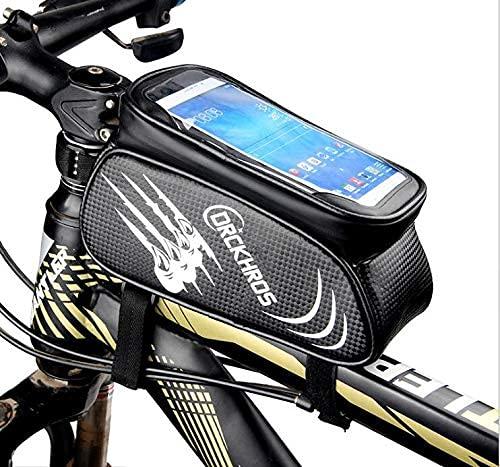 QZLMGZSL Fahrrad Handy Tasche, wasserdichte Fahrrad Tasche mit Empfindlichem Touchscreen,Fahrrad Handy Lenker Tasche mit Großer Kapazität.