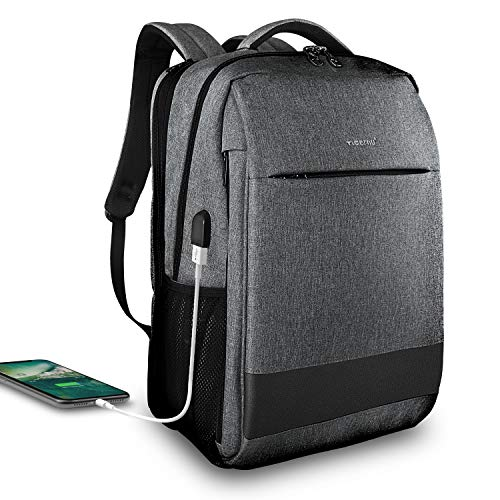 Laptop Backpack,Tigernu Business Travel Anti Theft Slim Durable Laptops ( Max 15.6 Inch) Backpack with USB Charging Port,Water Resistant College School Computer Bag for Women & Men