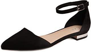 Women's Ballet Flats Casual Pointed Toe Sandals Ankle Strap Girl Lady Dress Dance Shoes