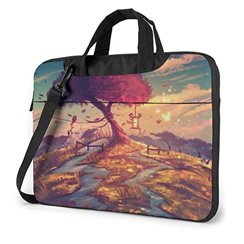 Laptop Sleeve Bag Artwork Treesna Ture Tablet Briefcase Ultraportable Protective Canvas for 15.6 inch MacBook Pro/MacBook Air/Notebook Computer