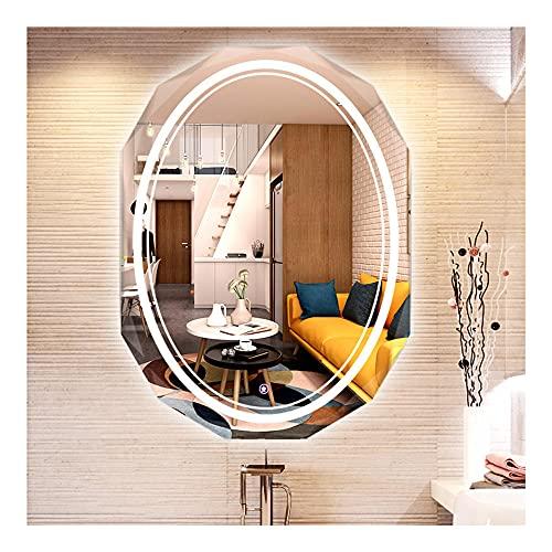 Espejo BañO,Luz Espejo de Pared,Baño Dormitorio Maquillaje,para Baño, Dormitorio, Hotel, Salón de...