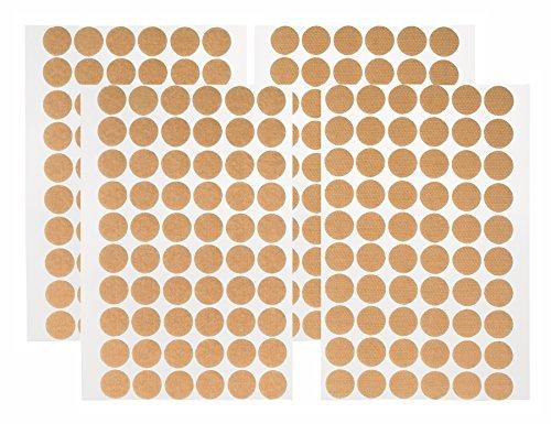 Lot de 2 paquets de 60 paires de pastilles Velcro - Petit format rond - 15 mm - 240 pièces de velours et crochets - Autocollantes - Double face - Petits pastilles adhésives - 15 mm de diamètre - 15 mm de diamètre - Sur carte