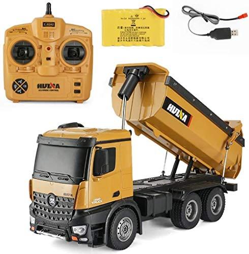 ZHJ Aleación de Control Remoto camión volquete de 10 Canales 2.4G del camión volquete camión volquete de Juguete Simulación Ingeniería de Vehículos Juguetes de Control Remoto