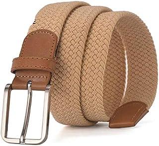 Braided Elastic Belt for Men, Stretch Woven Belt for Jeans Unisex Casual Belts