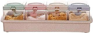 YYAI-HHJU Boîte De Rangement D'Assaisonnement Transparente Séparable De Pot De Sel De Cuisine