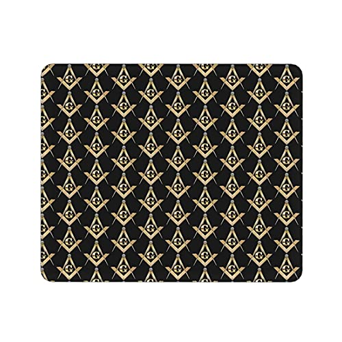 Masonic Square Gaming Mouse Pad with Non-Slip Rubber Waterproof Mousepad Pads for Computers Laptop Pc Office & Home