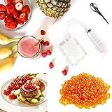 NIAN Fabricante de Caviar de 96 Hoyos, Kit de gastronomía Molecular con Tubo y Cuchara fácil de Limpiar restaurantes Cocinas para el hogar