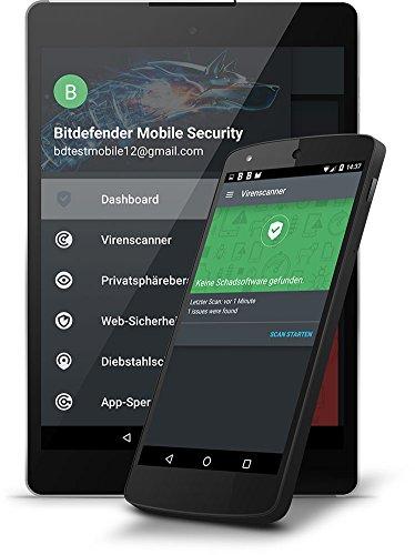 Bitdefender Mobile Security 2017 - 1 Jahr / 1 Gerät + VPN