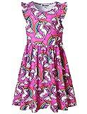 Red Unicorn Dresses for Girls 5t Summer Sun Clothes Swing Elastic Waist Dress