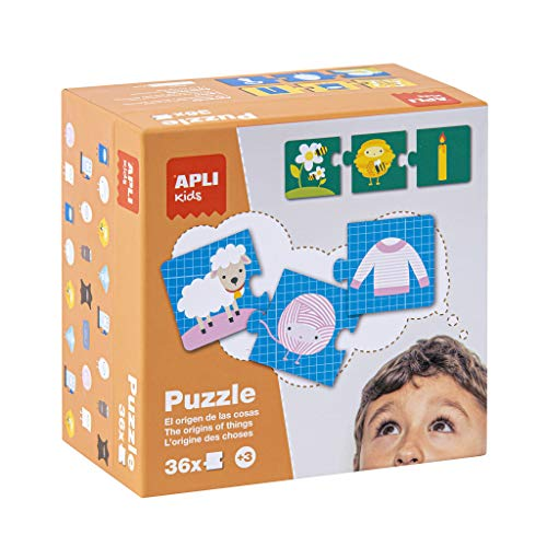 APLI Kids - Origen de las Cosas Puzle, 36 Piezas, Multicolor, 14406