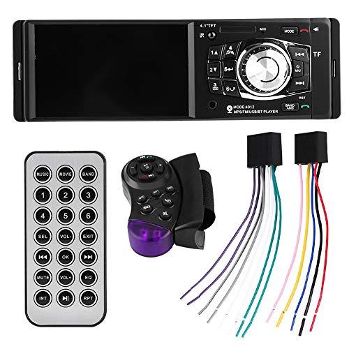 Reproductor de radio de coche de 4,1 pulgadas Reproductor de MP5 para coche Bluetooth Video FM Radio USB AUX Control remoto del volante