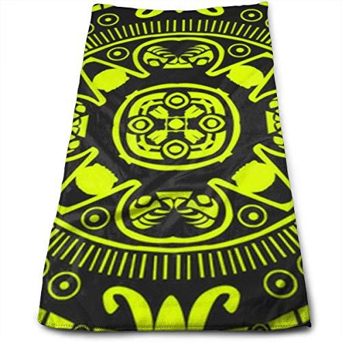 Aztec Wonderful Pattern - Toalla de mano (microfibra, secado rápido, muy suave, extra absorbente, para baño, spa y gimnasio, 30,5 x 60,4 cm)