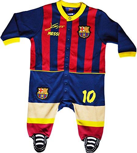 Pijama para bebé Barca-Lionel Messi-Colección oficial FC Barcelona, Bebé niño, azul, 18 meses
