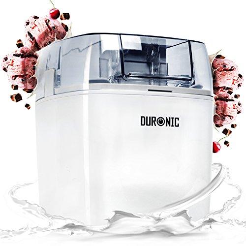 Con la heladera Duronic IM540 podrás elaborar tus propios helados, sorbetes y otros postres helados caseros. Selecciona tus ingredientes favoritos como frutas y frutos secos y prepara tus propias recetas de helados naturales, desde helado de chocolat...