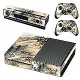 AXDNH Etiqueta Adhesiva De Piel De Consola Xbox One + 2 Fundas De Controlador Compatible con Xbox One Y Kinect Película Protectora De PVC - Diseño De Pintura De Paisaje De Estilo Chino,1825