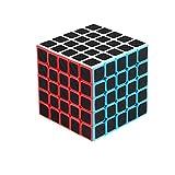 Magic Cube 5th Order 5x5x5 Carbon Fiber Sticker Speed Cube, Cubo mágico súper rápido y Suave Niños Juguetes educativos para Adultos