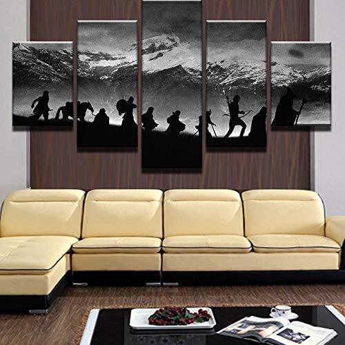 Nordic dekoration jugendstil leinwand malerei schnee berglandschaft wand wohnzimmer bild poster rahmenlose 40 * 60 40 * 80 40 * 100