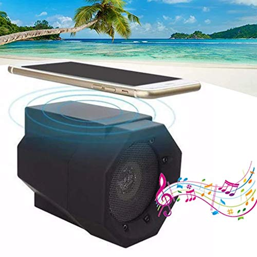 Boots up Touch Wireless Speaker - Portable Speakers Wireless Clear Audio Best for Outdoor Party, Stereo Sound Desktop Speakers with Subwoofer FM Radio MP3 Player Rich Bass for Phone PC Home (Black)