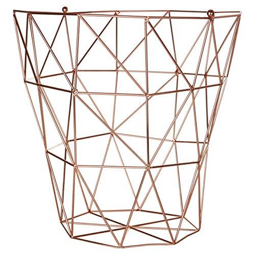 Premier Housewares Vertex Aufbewahrungskorb, verkupfert, Metall, Kupfer, 31 x 31 x 31 cm