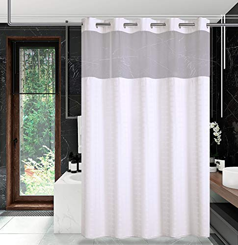 Conbo Mio Hook Free Shower Curtain with Snap in Liner for...