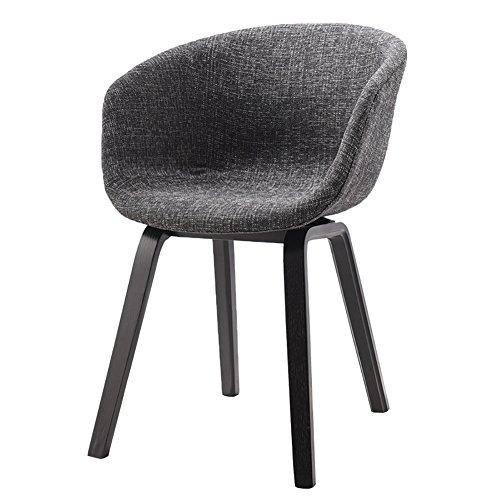 MENA Uk Designer Stuhl Sessel Stativ Hochwertiger Bent Wood Panton Designer Stuhl (Farbe : Schwarz, größe : H75cm)