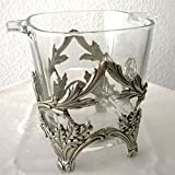 Frieling - Antik-Zinn/Glas Eiseimer eckig 16,5 cm hoch