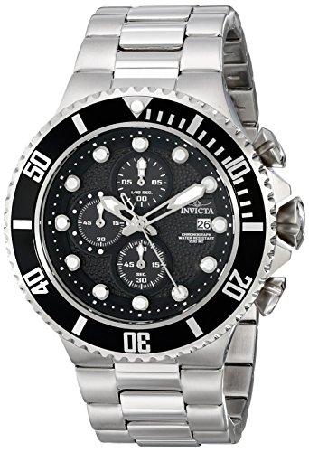 Invicta Men's Pro Diver 52mm Stainless Steel Chronograph Quartz Watch, Silver (Model: 18906)