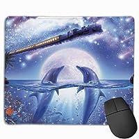 マウスパッド イルカ 電車 星空 熱帯魚 Mousepad ミニ 小さい おしゃれ 耐久性が良 滑り止めゴム底 表面 防水 コンピューターオフィス ゲーミング 25 x 30cm