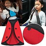 Kungfu Mall infantil Seguridad protectora Bügel correa Auto ajustable Pad para niños Asiento Seguridad Cinturón Clip rojo