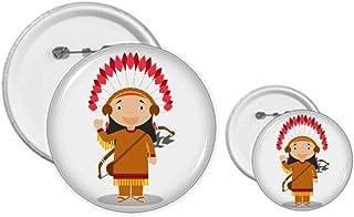 Aboriginal Tribe USA Cartoon Pin Badge Design Kit Craft Sets