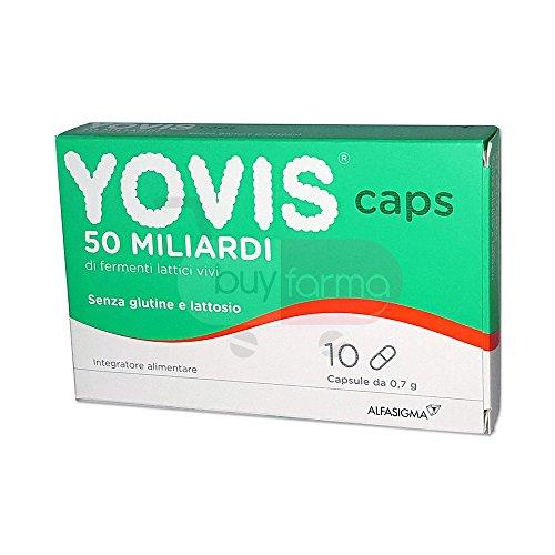 YOVIS CAPS – tillägg mjölk mjölksyrabakterier vivi från 50 miljarder – 10 kapslar