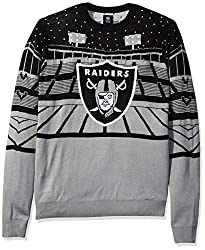 This Raiders Christmas Sweater come in black and grey