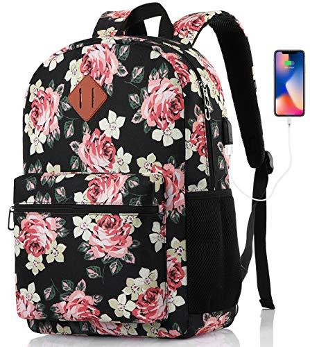 MARYARM Mochila para mujer, mochila escolar para niñas, adolescentes, mochila escolar para niñas, adolescentes, mochila escolar para mujer con compartimento para portátil